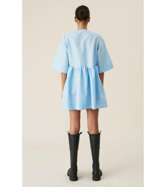 Ganni - Crispy Taffetta Dress Blue