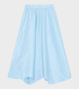 Crispy Taffetta Skirt Blue, Nederdel, Skirt
