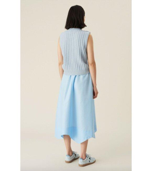 Ganni - Crispy Taffetta Skirt Blue