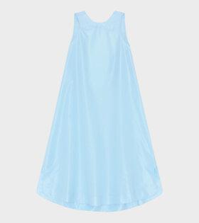 Crispy Taffetta Long Dress Blue