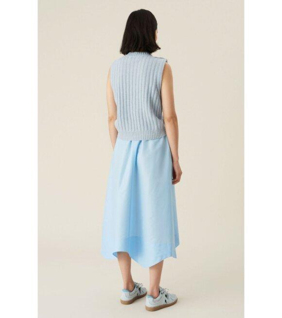 Ganni - Wool Mix Vest Blue
