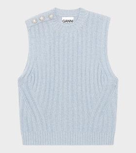 Wool Mix Vest Blue