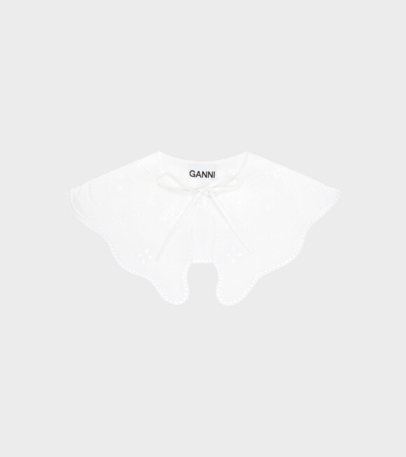 Ganni - Broderie Anglaise Collar White