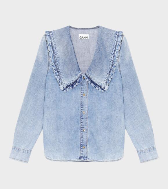 Ganni - Light Denim Shirt Blue