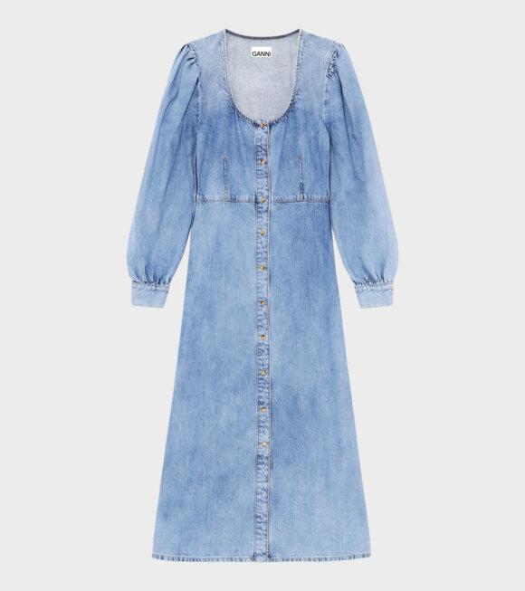 Ganni - Light Denim Dress Blue