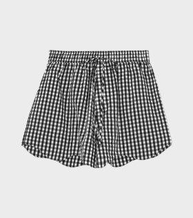 Seersucker Check Shorts Black