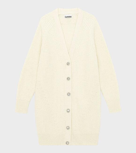 Ganni - Rib Knit Cardigan Off-White
