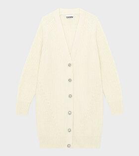 Rib Knit Cardigan Off-White