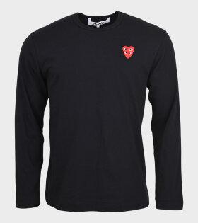 M Double Heart T-shirt Black