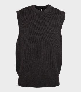 Merino Knit Vest Brown