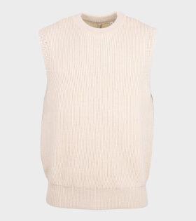 Merino Knit Vest Off-White