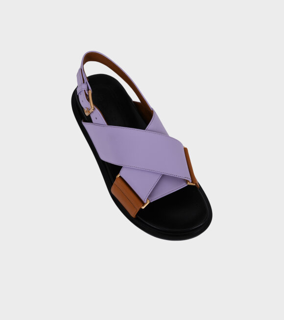 Marni - Fussbett Sandal Purple/Brown