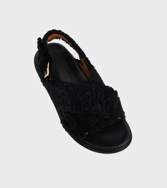 Marni - Fussbett Fluffy Sandal Black