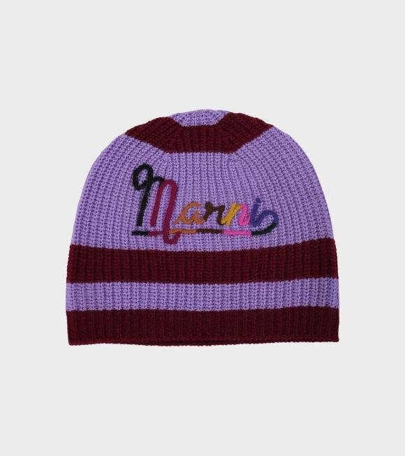 Marni - Retro Beanie Purple
