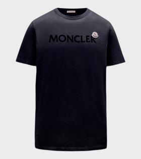 Moncler - Black Logo T-shirt Navy