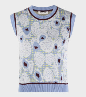 Berry Knit Vest Blue