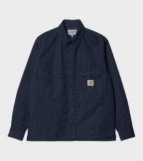 Reno Shirt Jacket Dark Navy