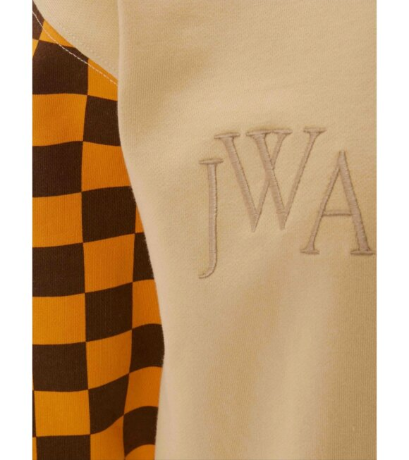 JW Anderson - Colorblock Logo Sweatshirt Beige