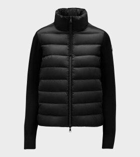 Moncler - Cardigan Tricot High Neck Black