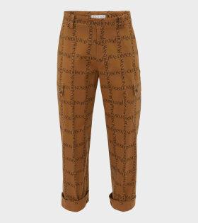 Straight Leg Trouser Brown