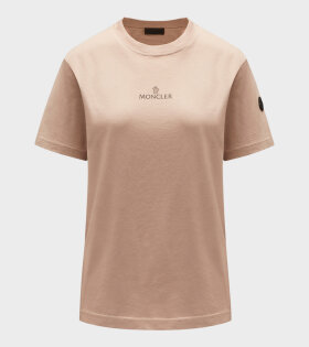 Moncler - Maglia Print T-shirt Pink