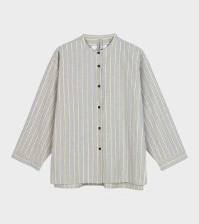 Faith Shirt Slub Mix Crystal Beige/Blue