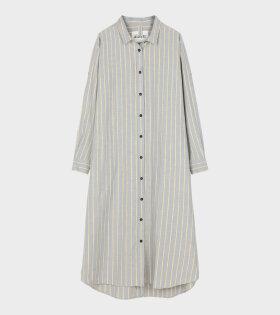 Shirt Robe Slub Mix Crystal Beige/Blue