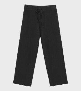 Hampus Knit Pants Black