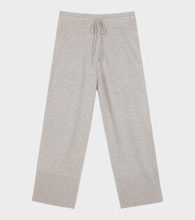 Hampus Knit Pants Grey/Light Beige