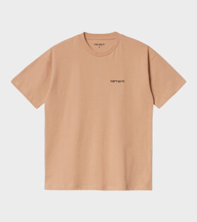Carhartt WIP - W S/S Script Embroidery T-shirt Brown