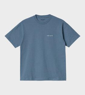Carhartt WIP - W S/S Script Embroidery T-shirt Blue