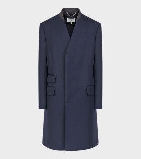 Maison Margiela - Minimal Twill Coat Dark Blue