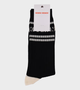 Henrik Vibskov - Ribskov Socks Black White Stripes