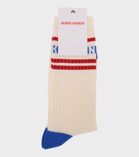 Henrik Vibskov - Ribskov Socks White Red Stripe