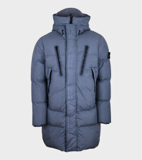 Carment Dyed Crinkle Reps NY Down Jacket Blue - dr. Adams