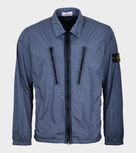 Zipper Overshirt Blue