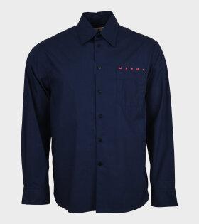 Pocket Shirt Logo Blue/Red