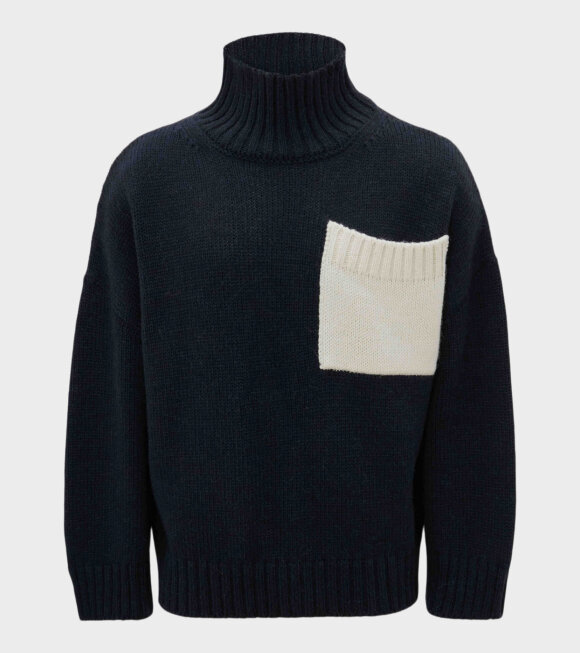 JW Anderson - Patch Pocket Knit Navy