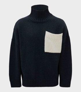 Patch Pocket Knit Navy