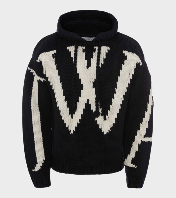JW Anderson - Chunky Knit Hoodie Navy