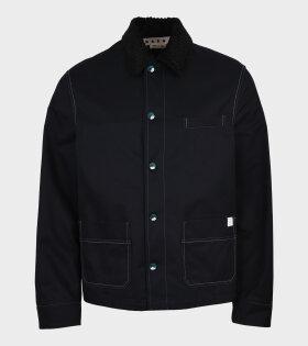 Contrast Stiching Jacket Black