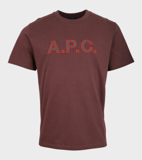 Embroidered Logo T-shirt Brown