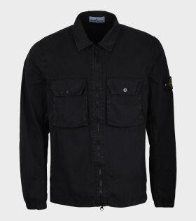 Patch Overshirt Black