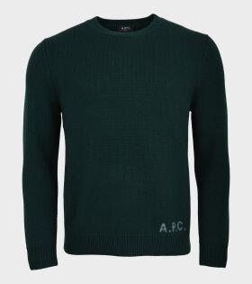 Edward Knit Pullover Green