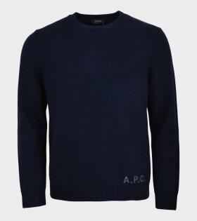 Edward Knit Pullover Navy