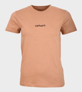 S/S Hartt Script T-shirt Brown