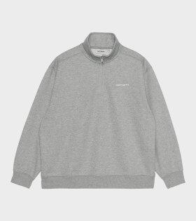 Half Zip Script Sweat Grey