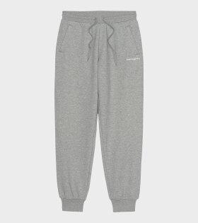 W Script Sweatpants Grey