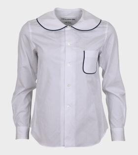 Comme des Garcons Girl - Collar Shirt White