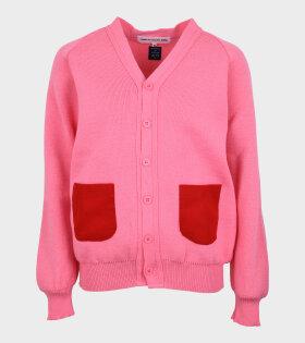 Comme des Garcons Girl - Pockets Cardigan Pink